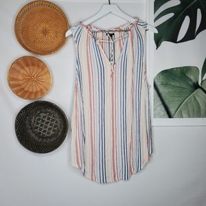 Torrid Ivory Stripe Pullover Tank Beachy Boho